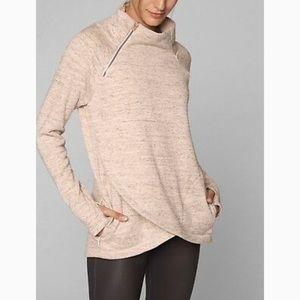 Athleta 'Cozy Karma' Asymmetrical Zip Pullover